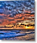 Barefoot Beach Sunset Metal Print