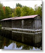 Barge House On The Erie Canal Metal Print