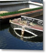 Barge Love Metal Print