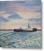 Barge On Port Phillip Bay Metal Print