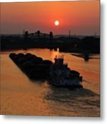 Barge On The Ohio. Metal Print