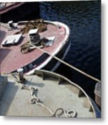 Barging Forward Metal Print