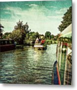 10946 Cruising On The Grand Union Canal Metal Print