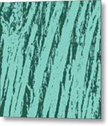 Bark Texture Turquoise Metal Print