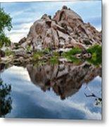 Barker Dam Reflection Metal Print