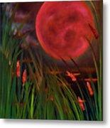 Barley Spike Moon Metal Print
