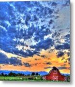 Barn And Sky Metal Print