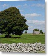 Barn And Tree Metal Print