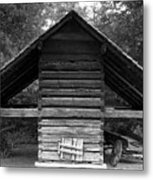 Barn And Wagon Metal Print