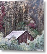 Barn At Cades Cove Metal Print