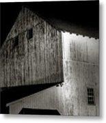 Barn At Night Metal Print