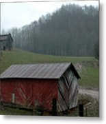 Barn At Stecoah Metal Print