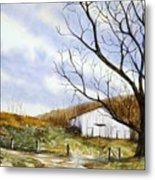 Barn At The Stage Stop Metal Print