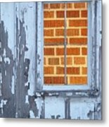Barn Brick Window Metal Print