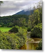 Barn By The Stream In Vermont Metal Print