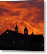 Barn Four At Sunrise Metal Print