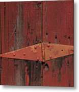 Barn Hinge Metal Print by Garry Gay