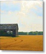 Barn In A Field  Metal Print