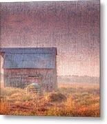 Barn In Early Light  Metal Print