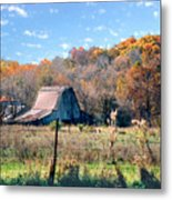 Barn In Liberty Mo Metal Print