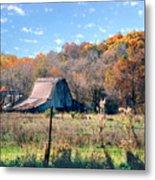 Barn In Liberty Mo Metal Print