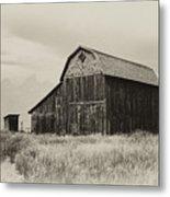 Barn In The Grand Tetons Metal Print
