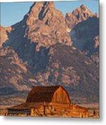 Barn In The Tetons One Metal Print