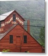 Barn In Vermont Along Amtrack Metal Print