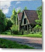 Barn Near Lac De Panthier - P4a160017 Metal Print