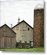 Barn On The Georgia Shore Road Metal Print