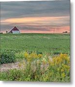 Barn On The Horizon  Metal Print