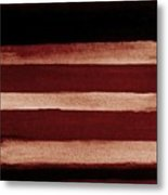 Barn Red Railings Metal Print