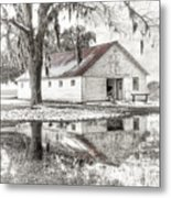Barn Reflection Metal Print