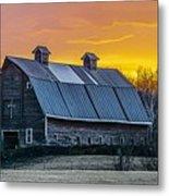 Barn Sunset Metal Print