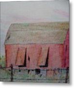 Barn The Red Metal Print