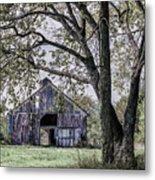 Barn Underneath The Tree Metal Print