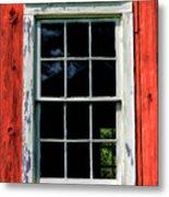 Barn Window Closeup At Old World Wisconsin Metal Print
