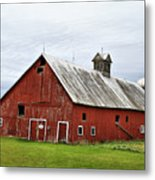 Barn With A Cross Metal Print