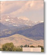 Barn With A Rocky Mountain View  Metal Print