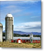 Barn With A View Metal Print