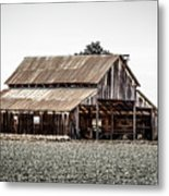 Barn With Outhouse Metal Print