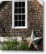 Barn With Star Metal Print