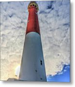 Barnegat Lighthouse In The Clouds Metal Print