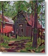 Barns In April Metal Print