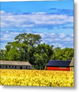 Barns In The Distance Metal Print