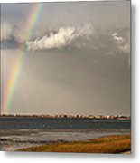 Barnstable Harbor Rainbow Metal Print