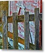 Barnyard Gate Metal Print