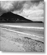 Barnynagappul Strand On The Wild Atlantic Way Coastal Route Doogort Achill Island County Mayo Irelan Metal Print
