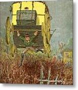 Baron Munchausen Carries His Carriage Metal Print