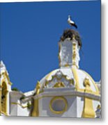 Baroque Church And Storks Nest Metal Print